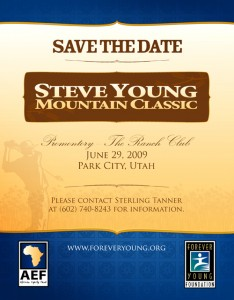 Steve Young Mountain Classic 2009 Save the Date