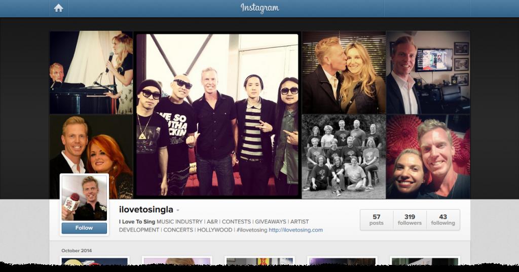 ILoveToSingLA Instagram